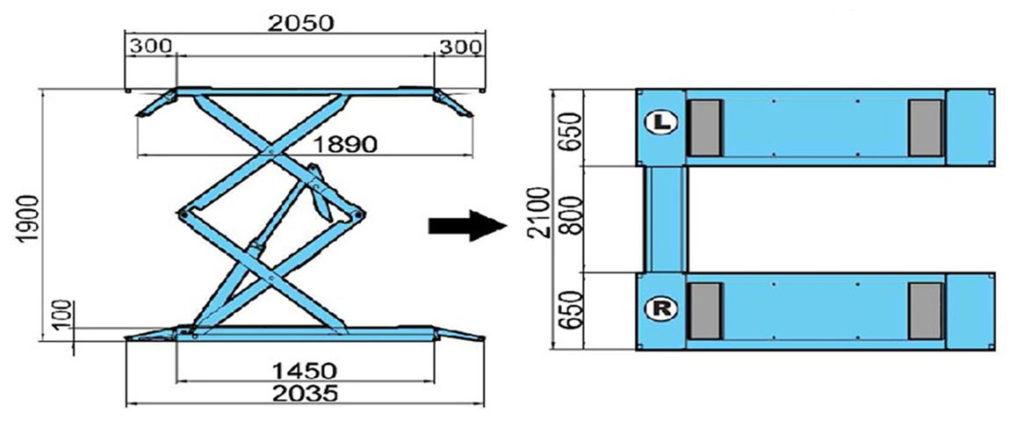 AMT 601 Dimensions